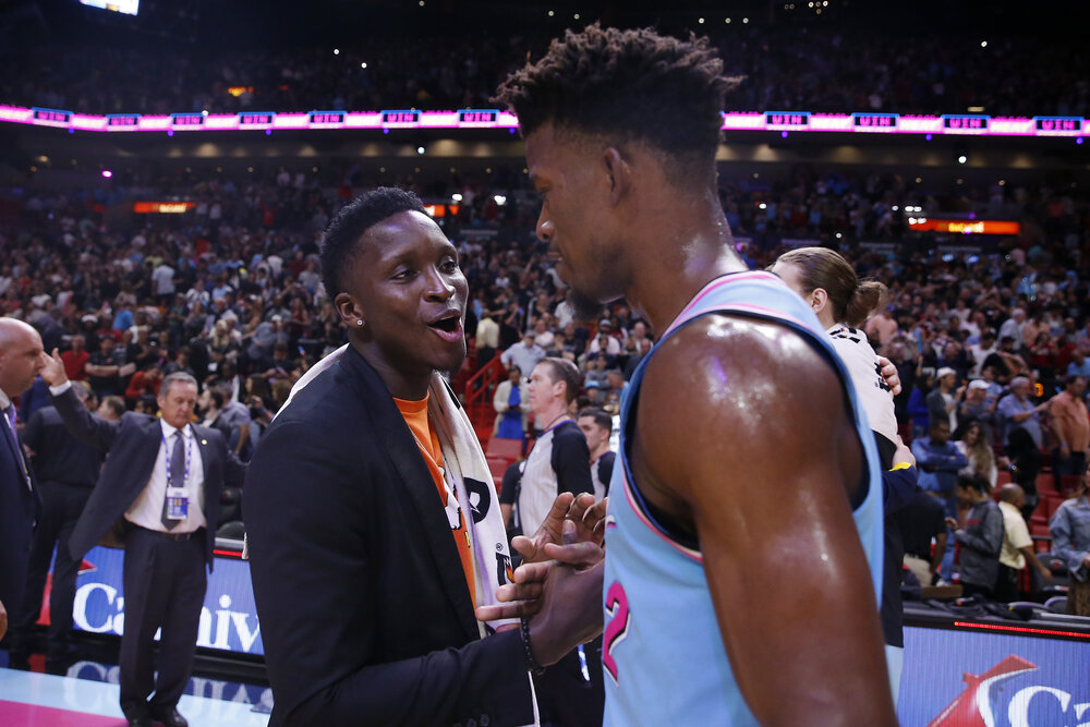 Victor Oladipo could join Jimmy Butler in the Heat camp this season. (Photo by Michael Reaves/Getty Images)
