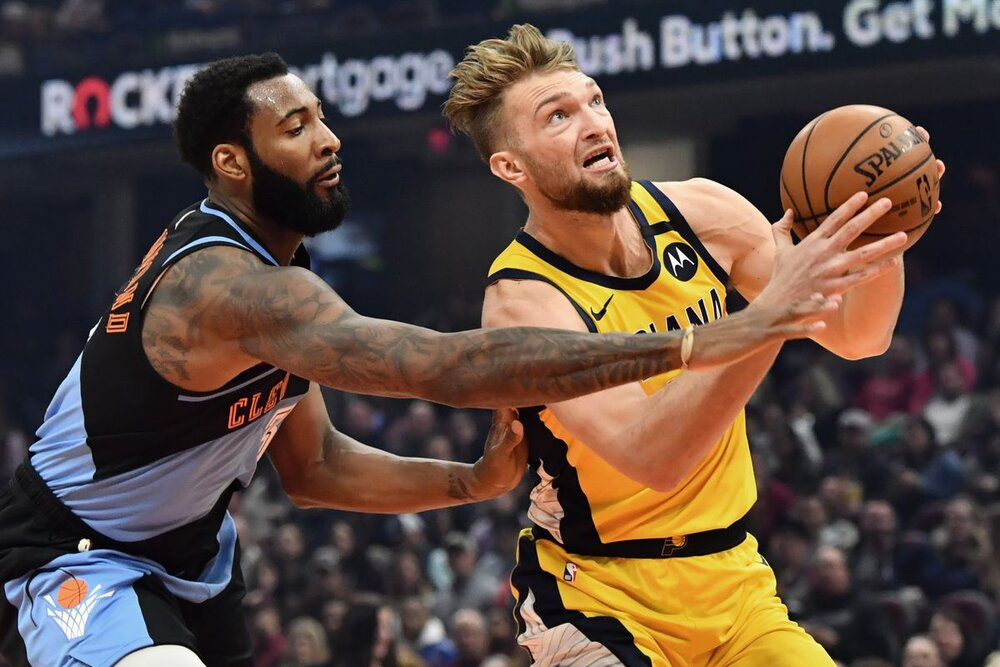 Domantas Sabonis is averaging a career-best 6.7 assists for the Pacers this season. (Photo by Ken Blaze/USA TODAY Sports)