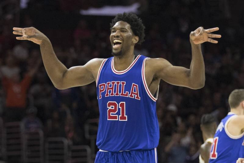 Embiid has grown into an All-Star in Philadelphia. (Photo by Mitchell Leff/Getty Images)