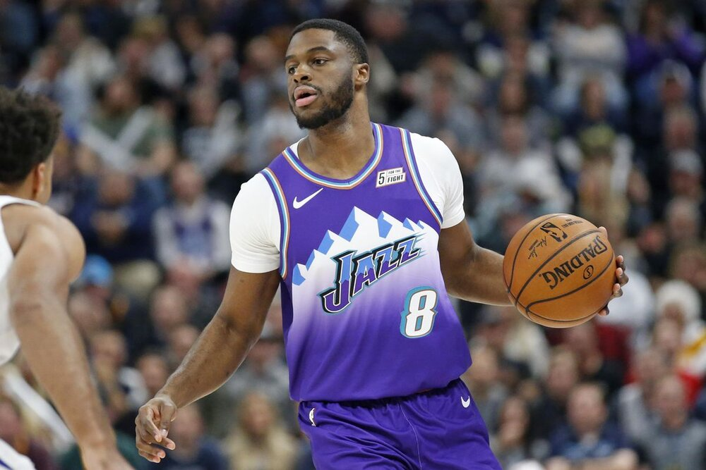 Emmanuel Mudiay's length and defensive potential can be valuable for the Lakers. (Photo by Rick Bowmer/AP)