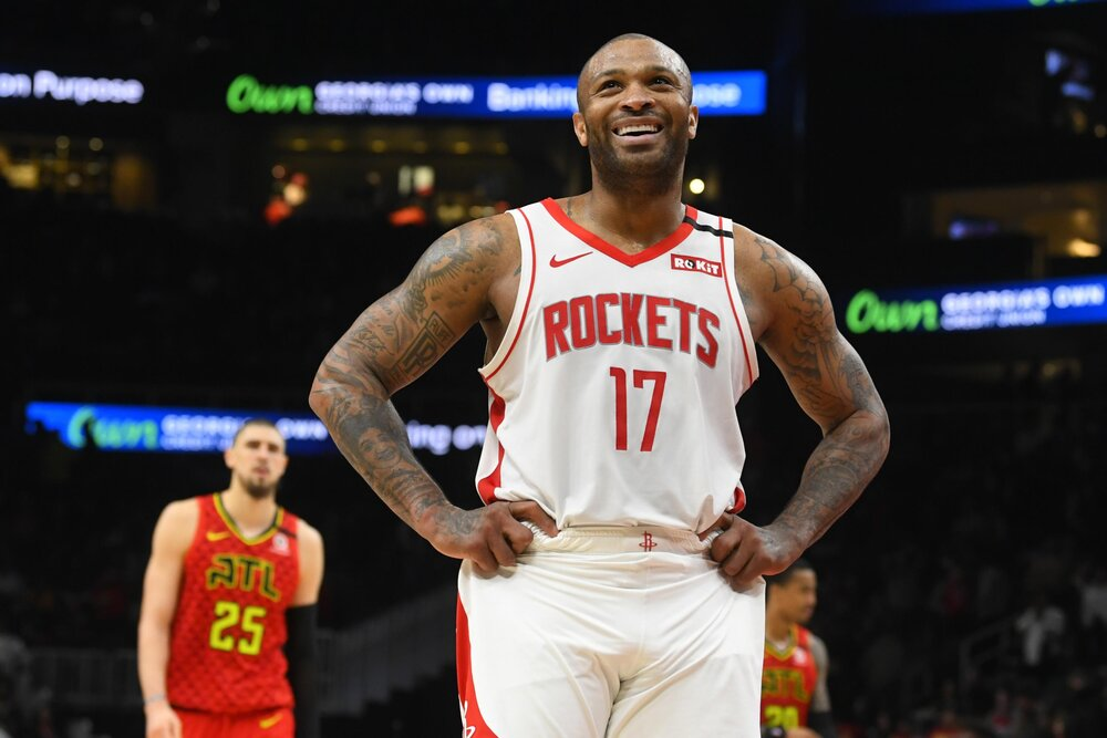 P.J. Tucker could play for a new team this season. (Photo by John Amis/AP)