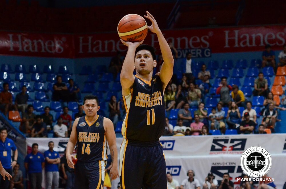 Jed served as one of JRU's backcourt stars in the NCAA. (Photo by Marie Dobuyan/ Tiebreaker Times )