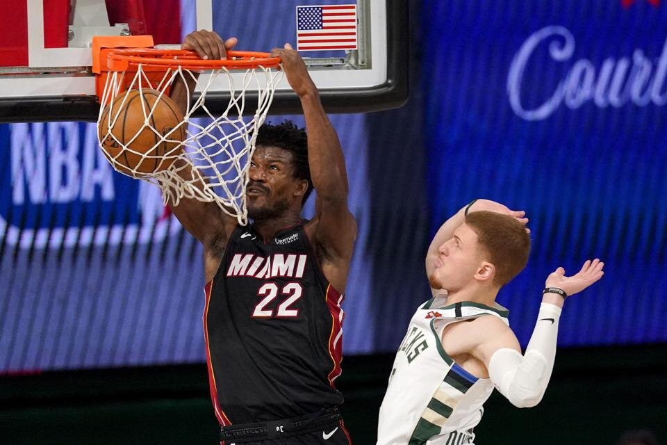 Butler led Miami to a Game 1 victory over Milwaukee in their Eastern Conference Semifinals series. (Photo by Mark J. Terrill/AP)