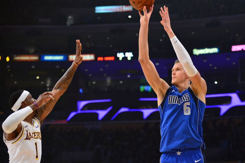 KCP will give Dallas a capable shooter to complement Kristaps Porzingis and Luka Doncic. (Photo by Gary A. Vasquez/USA TODAY Sports)