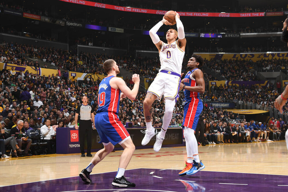 Kuzma grew up being a fan of the Pistons' basketball culture. (Photo by Andrew D. Bernstein/NBAE/Getty Images)