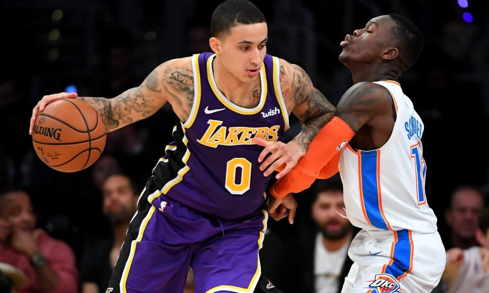Kuzma could join the youth movement in Oklahoma City. (Photo via USA TODAY Sports)