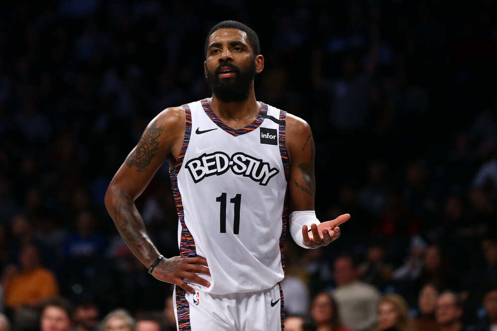 Irving has played only seven games for the Nets this season. (Photo by Mike Stobe/Getty Images)