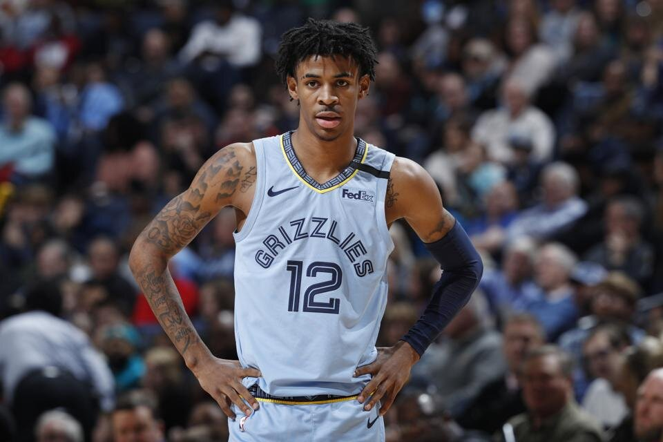 Ja Morant has sustained an ankle injury. (Photo by Joe Robbins/Getty Images)