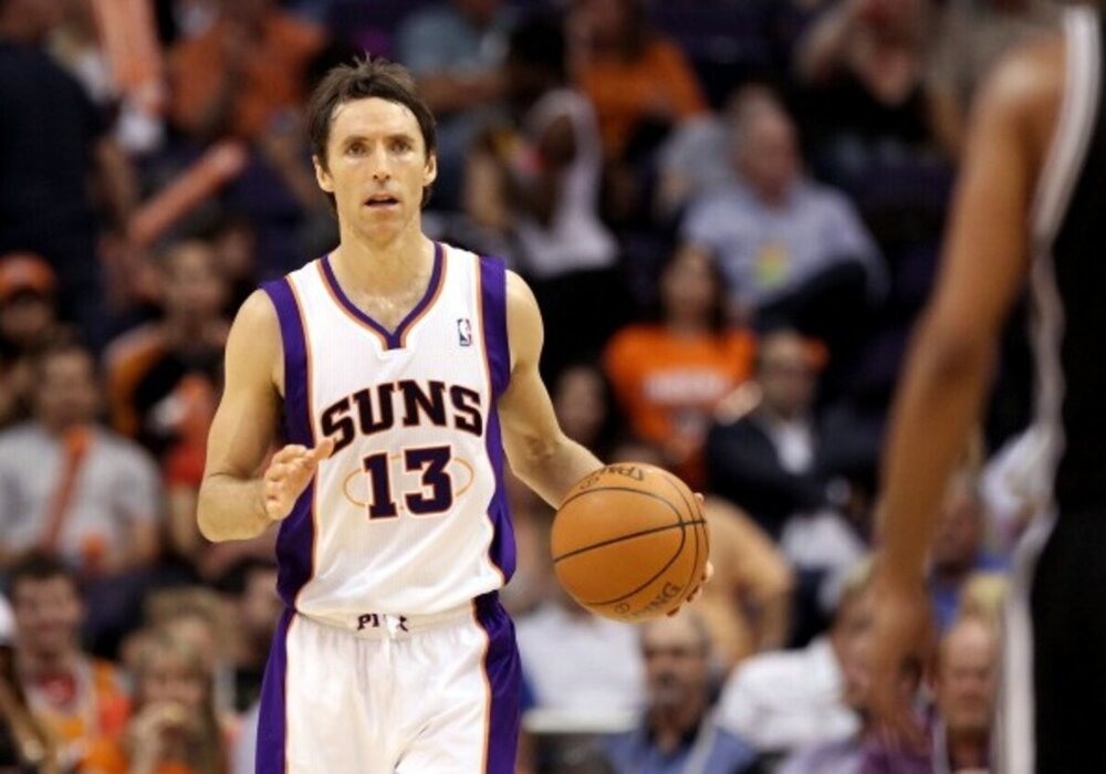 Steve Nash played ten seasons for the Phoenix Suns. (Photo via celebritynetworth.com)