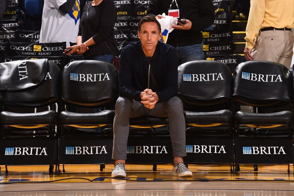 Steve Nash is the newly-minted head coach of the Brooklyn Nets. (Photo by Noah Graham/NBAE/Getty Images)