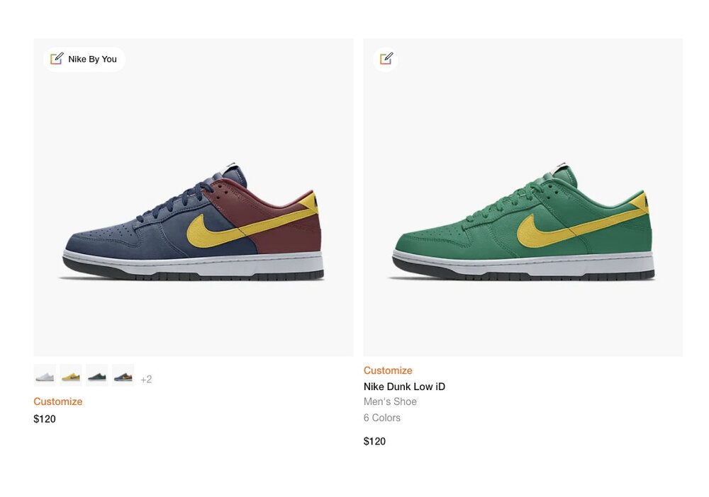 Formerly known as NikeiD, Nike By You option of Nike SB Dunk Low surfaced online. (Photo courtesy of Sneaker News)