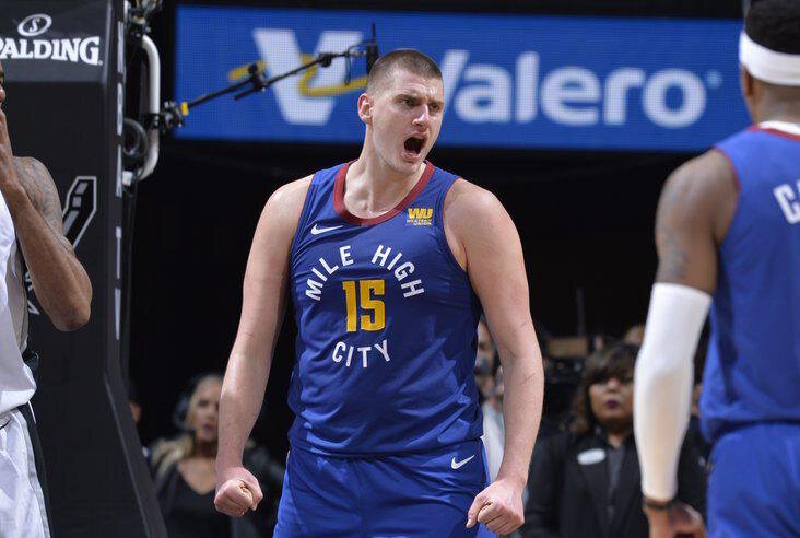 Nikola Jokic scored 43 points in the Nuggets' loss to the Celtics. (Photo from NBA)
