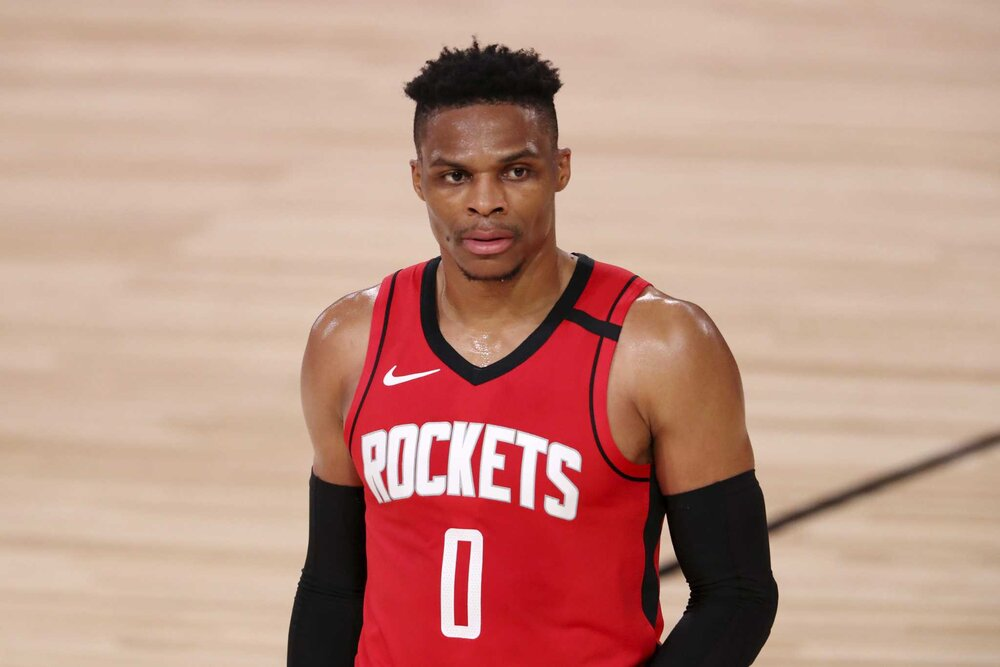 Russell Westbrook could be an X-factor for Houston in their semifinals match-up against the Lakers. (Photo by Mike Ehrmann/AP)