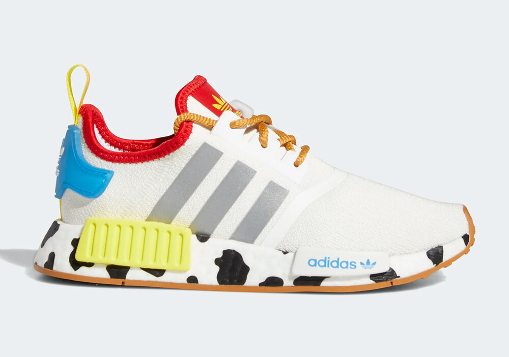 Adidas will turn into Adidas NMD R1 to encompass Sheriff Woody. (Photo courtesy of Sneaker News)