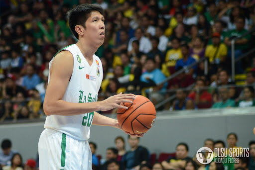 Yutien Andrada played college ball for La Salle. (Photo by Joaqui Flores/DLSU Sports)