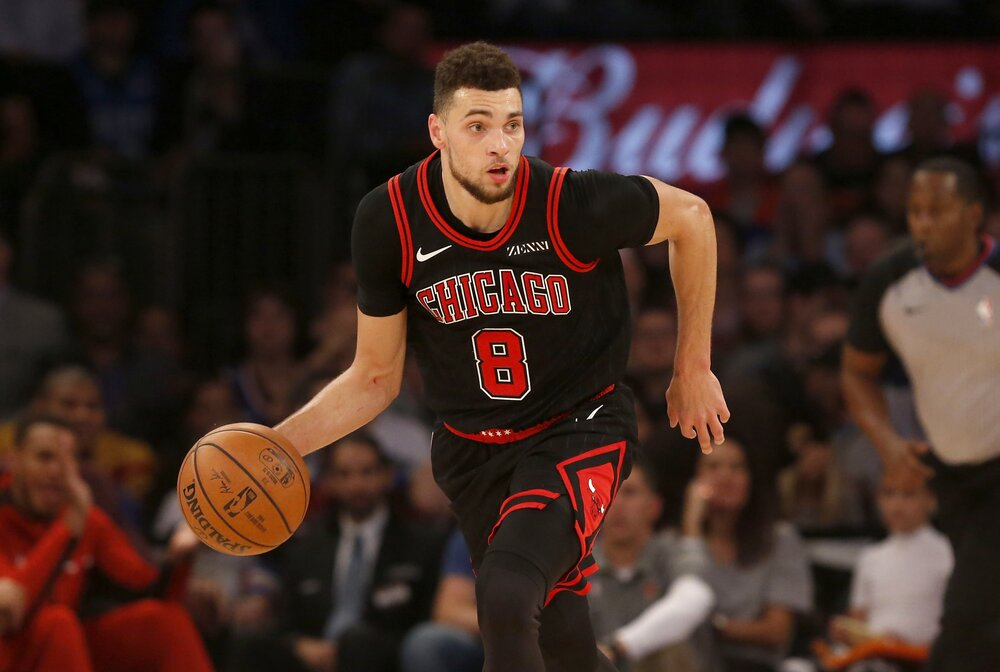 LaVine is putting up a career-best season for the Bulls. (Photo by Jim McIsaac/Getty Images)