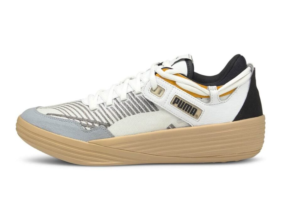 Puma Clyde All Pro Kuzma Low uses knitted uppers