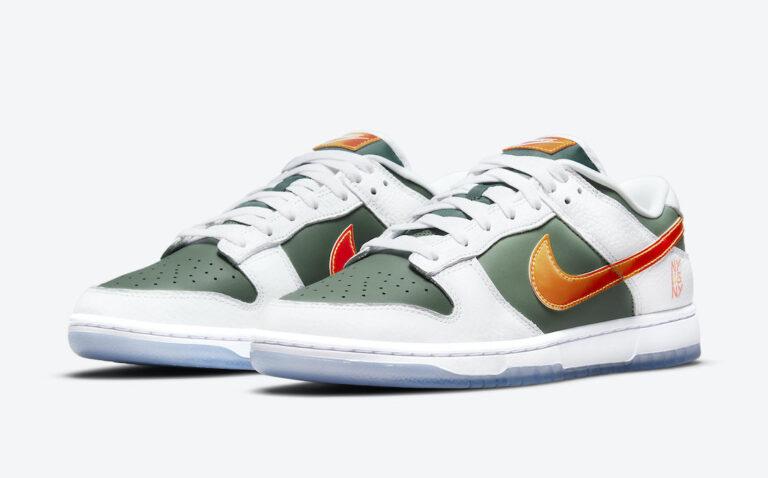 """The Nike Dunk Low """"NY vs NY"""" honors New York's streetball. (Photo courtesy of Sneaker Bar Detroit)"""
