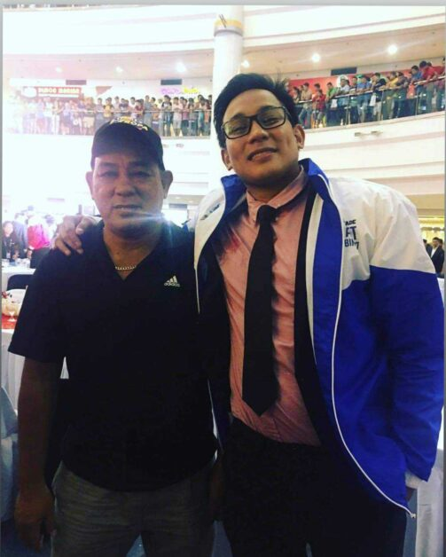 Mac with his father Mark during the 2017 PBA Draft