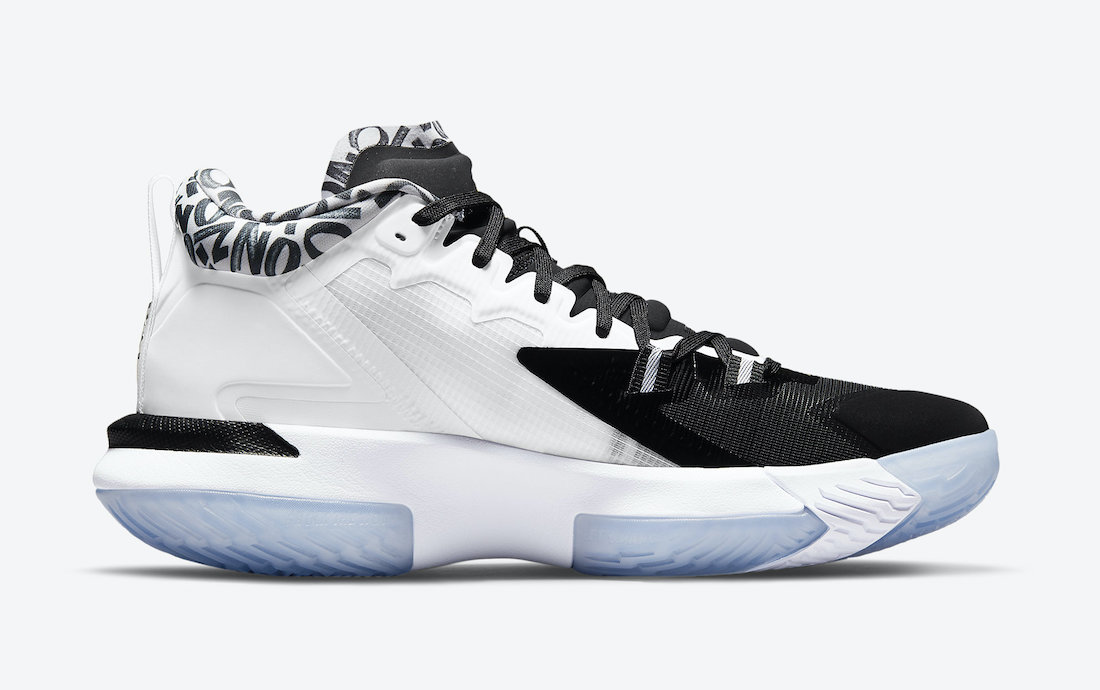 The Jordan Zion 1 is infused with Nike Zoom Strobel and Nike Zoom Unit. (Photo courtesy of Sneaker Bar Detroit)