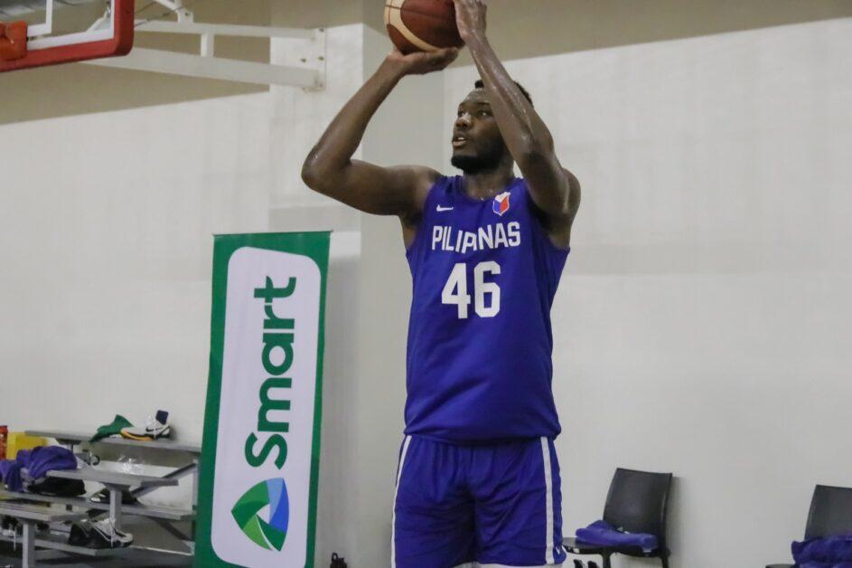 Angelo Kouame playing for Gilas