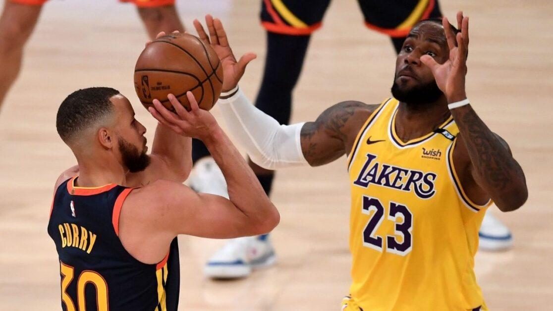 Stephen Curry and LeBron James (Photo via The SportsRush)