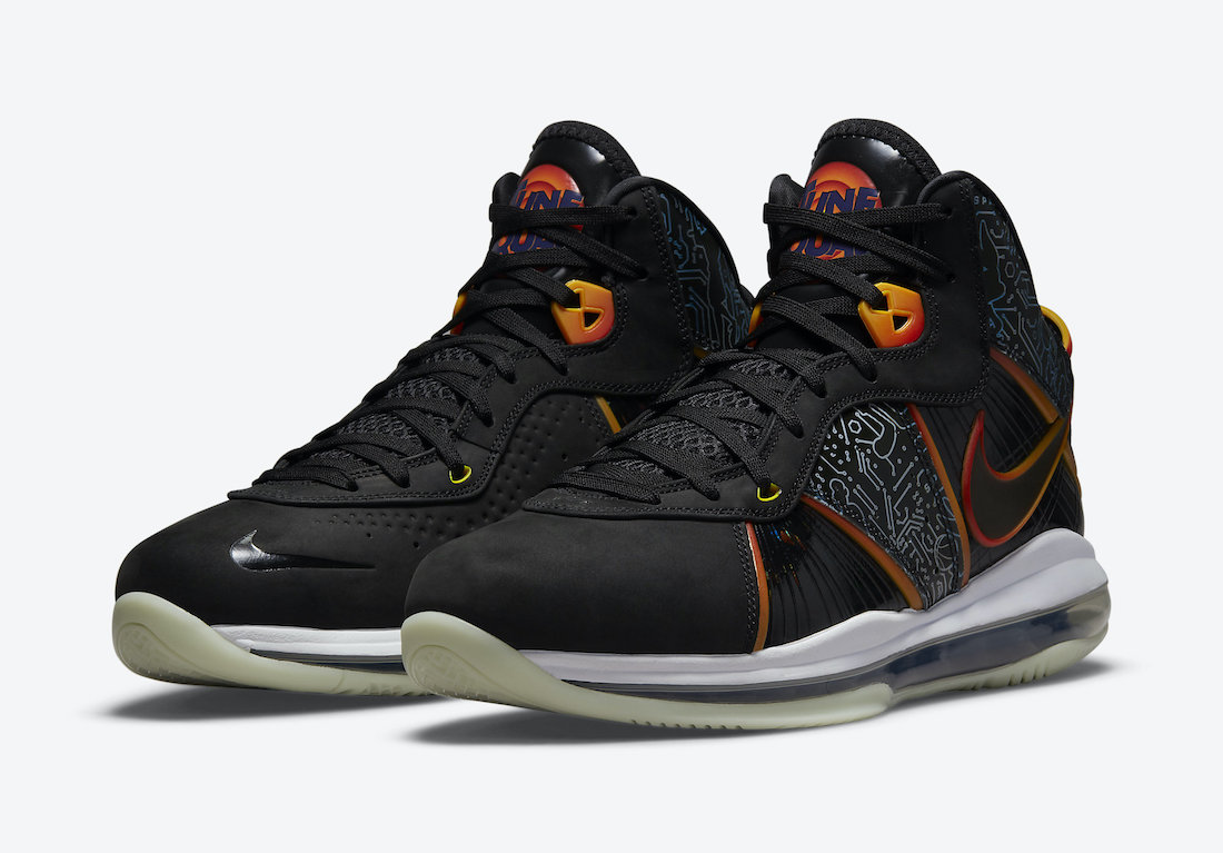 This iteration of the Nike LeBron 8 is inspired by the upcoming film, Space Jam. (Photo courtesy of Sneaker Bar Detroit)