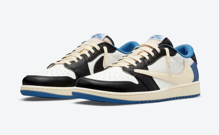 The Travis Scott X Fragment X Air Jordan 1 Low is set for release next month (Photo courtesy of Sneaker Bar Detroit)