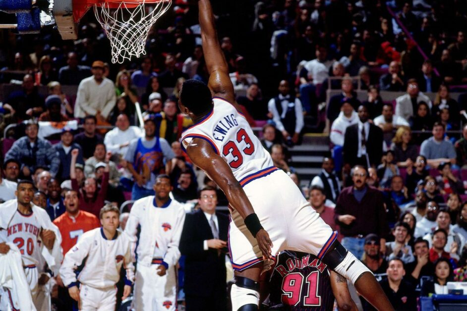 Patrick Ewing dunks (Photo by Nathaniel S. Butler/NBAE via Getty Images)
